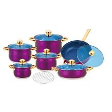 Cookware Set with Purple Painted Finish